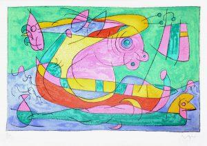 Joan Miró Lithograph, Ubu Roi (King Ubu) from Suites pour Ubu Roi, 1966
