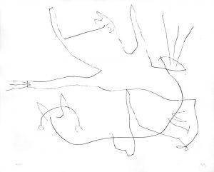 Joan Miró Etching, Flux de l'Aimant VII (Magnetic Flow No. 7), 1964