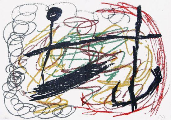 Joan Miró Lithograph, Lithograph IX from Miró, Obra Inedita Recent, 1964