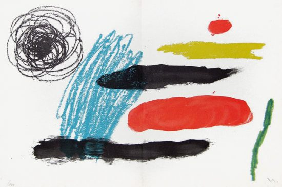 Joan Miró Lithograph, Lithograph VI from Miró, Obra Inedita Recent, 1964