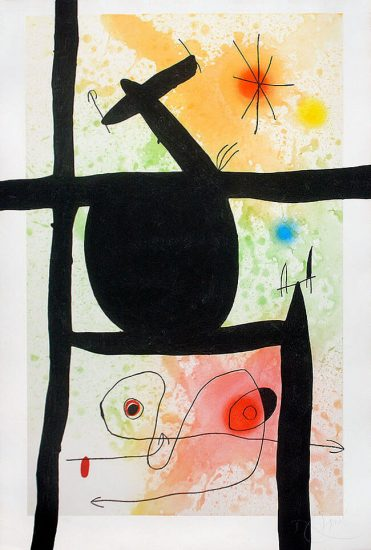 Joan Miró Lithograph, La Calebasse (The Gourd), 1969