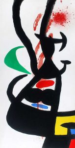 Joan Miró Etching, Le Chef des Équipages (Head of the Crew), 1973