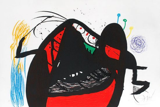 Joan Miró Lithograph, L'Aïeule des 10,000 Âges (The Grandmother of 10,000 Ages), 1976