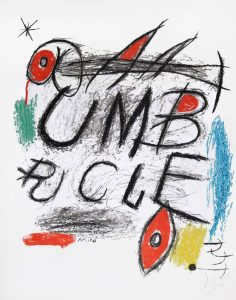 Joan Miró Lithograph, Poster for the film 'Umbracle,' 1973