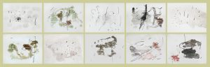 Joan Miró Lithograph, Set of 10 Works from Tracé sur l'eau (Trace on the Water), 1963
