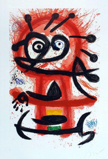 Joan Miró Etching, Danseuse Créole (Creole Dancer), 1978