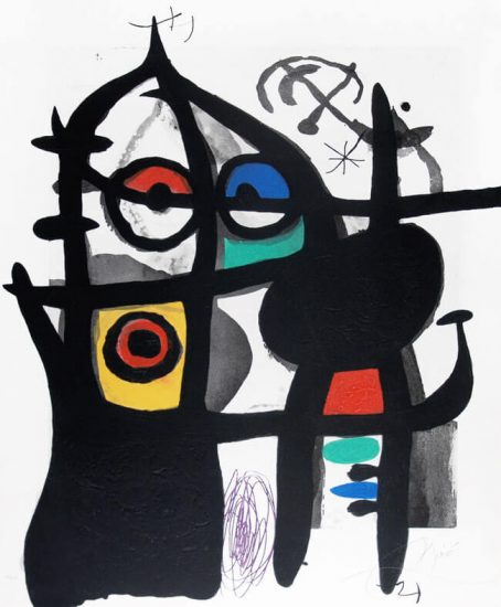 Joan Miró Etching, La Captive (The Captive), 1969
