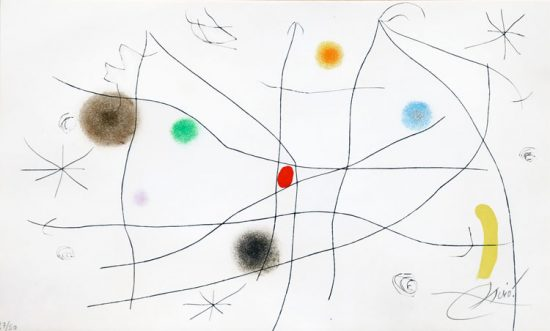 Joan Miró Etching, Composition from L'issue dérobée, 1974