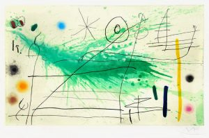 Joan Miró Etching, Etching and Aquatint, Partie de Campagne III (A Day in the Country III), 1967