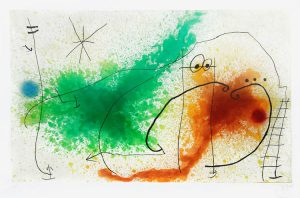 Joan Miró Etching, Partie de Campagne IV (A Day in the Country IV), 1967
