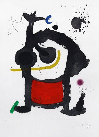 Joan Miró Etching, Bethsabée, 1972