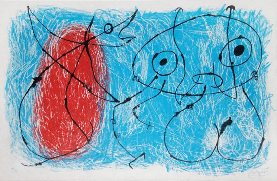 Joan Miró Lithograph, Le Lézard aux plumes d'or (The Lizard with Golden Feathers), 1971