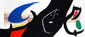 Joan Miró Etching, Maja Negra, 1973