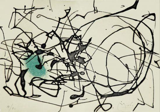 Joan Miró Etching, Poemes Civils, 1961