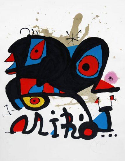 Joan Miró Lithograph, Affiche pour l'exposition 'Miró' Louisiana, Humlebaek [Denmark], 1974