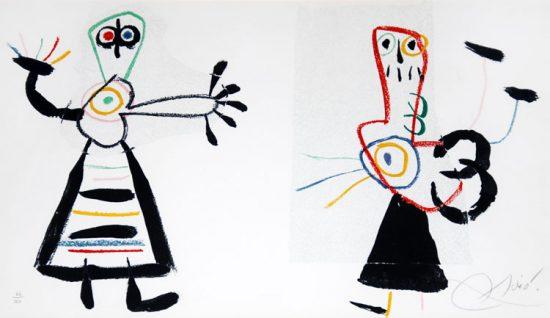 Joan Miró Lithograph, L'enfance d'Ubu (Childhood of Ubu), 1975