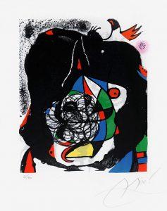 Joan Miró Lithograph, Les Révolutions Scéniques Du XXe Siécle (The Revolution of Stage Design in the 20th Century), 1975