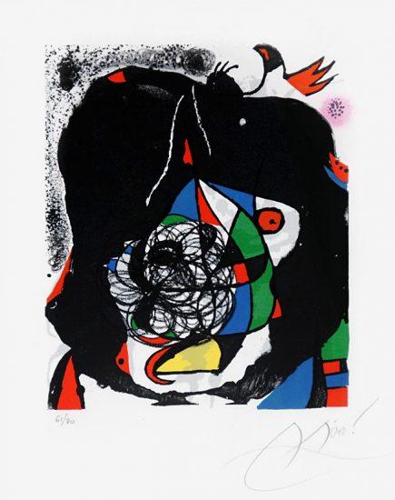 Joan Miró Lithograph, Les Révolutions Scéniques Du XXe Siécle, 1975