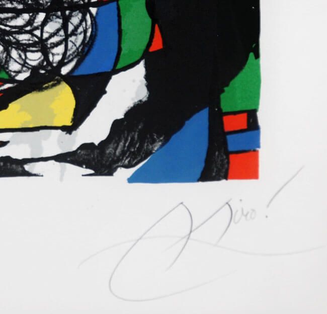 "JOAN MIRO /""REVOLUTION II/"" 1975 Original Lithograph by XXieme Siecle in Paris"