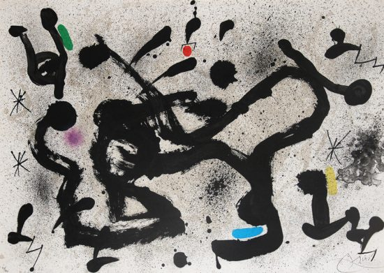 Joan Miró Lithograph, Homenatge a Joan Prats (Homage to Joan Prats),1972