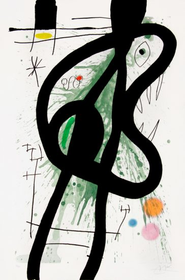 Joan Miró Aquatint, Le Grand Carnassier (The Large Carnivore) 1969