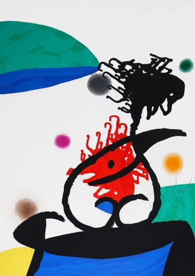 Joan Miró Lithograph, Mandarin du Nord (Mandarin North), 1976