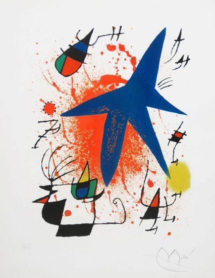 Joan Miró Lithograph, Print, Miró lithographs I, 1972