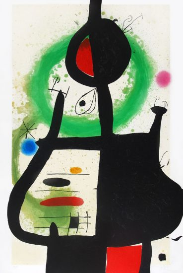 Joan Miró Etching, La Sorcière (The Sorcerer), 1969