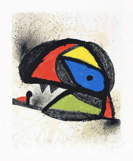 Joan Miró Lithograph, Affiche pour l'exposition 'Homenatge a J. Torres Clavé, 1980