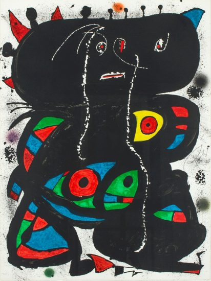 Joan Miró Lithograph, Hommage aux Prix Nobel (Tribute to the Nobel Prize), 1976