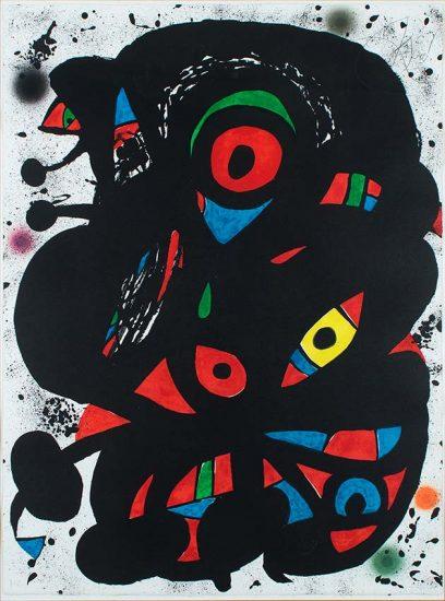 Joan Miró Lithograph, Strindberg Mappen, 1976