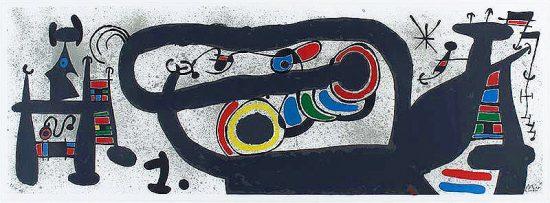 Joan Miró Lithograph, Le Lézard aux plumes d'or, 1971