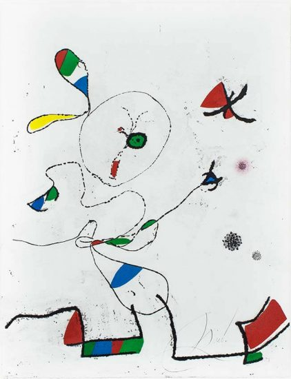 Joan Miró Etching, La Chasse aux Papillons (The Hunting of Butterflies), 1975
