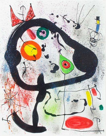 Joan Miró Lithograph, Les Voyants (The Seers), 1971