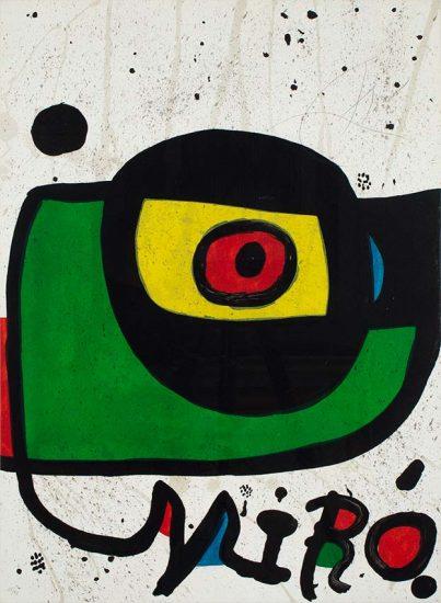 Joan Miró Lithograph, Miró-Pintura (Miró-Painting), 1978