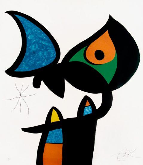 Joan Miró Etching, Plate VI from Espriu – Miró, 1975