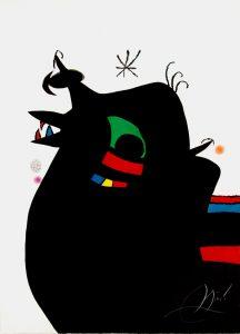 Joan Miró Etching, Le Marechal des Logis (The Sergeant), 1978