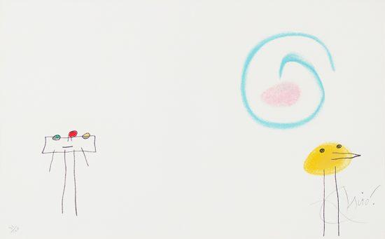 Joan Miró Lithograph, Lithograph, L'enfance d'Ubu (Childhood of Ubu), 1975