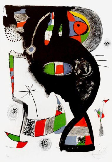 Joan Miró Lithograph, 42 Rue Blomet, 1977