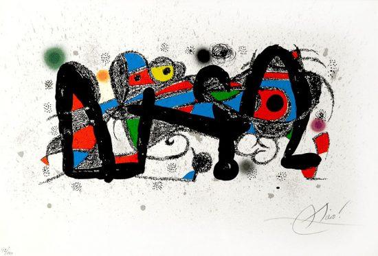 Joan Miró Lithograph, Escultor Portugal (Sculptor Portugal), 1974