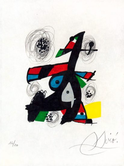Joan Miró Lithograph, La Mélodie Acide (The Sound Acid), PL.5, 1980