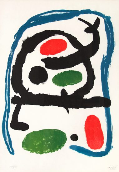 Joan Miró Lithograph, Poster for the Miró Exhibition at the Musée National d'Art Moderne, 1962