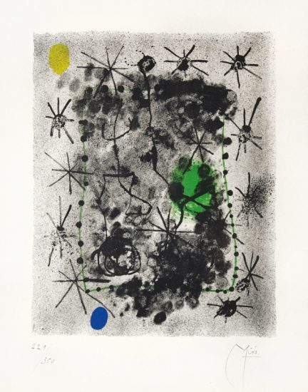 Joan Miró Lithograph, Constellations, 1959