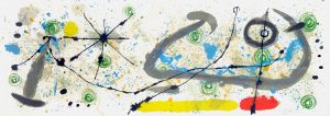 Joan Miró Lithograph, Untitled, 1967