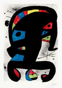 Joan Miró Etching, El Rei Garrell, 1979