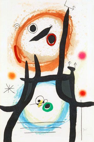 Joan Miró Etching, La Femme Angora, 1969