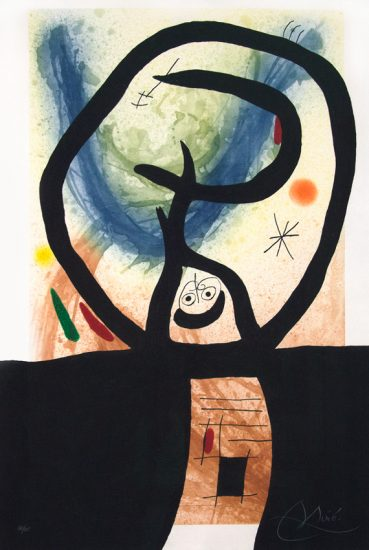 Joan Miró Etching, Joan Miro La Fronde ( The Slingshot ), 1969
