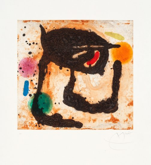 Joan Miró Etching, Le Dandy, 1969