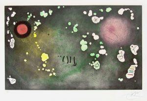 Joan Miró Etching, Archipel sauvage V (Wild Archipelago V), 1970