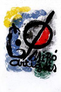 Joan Miró Lithograph, Affiche pour l'Exposition Miró-Artigas, 1963